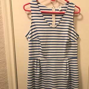 💙EUC SPRING BLUE STRIPES ZIP DRESS💙